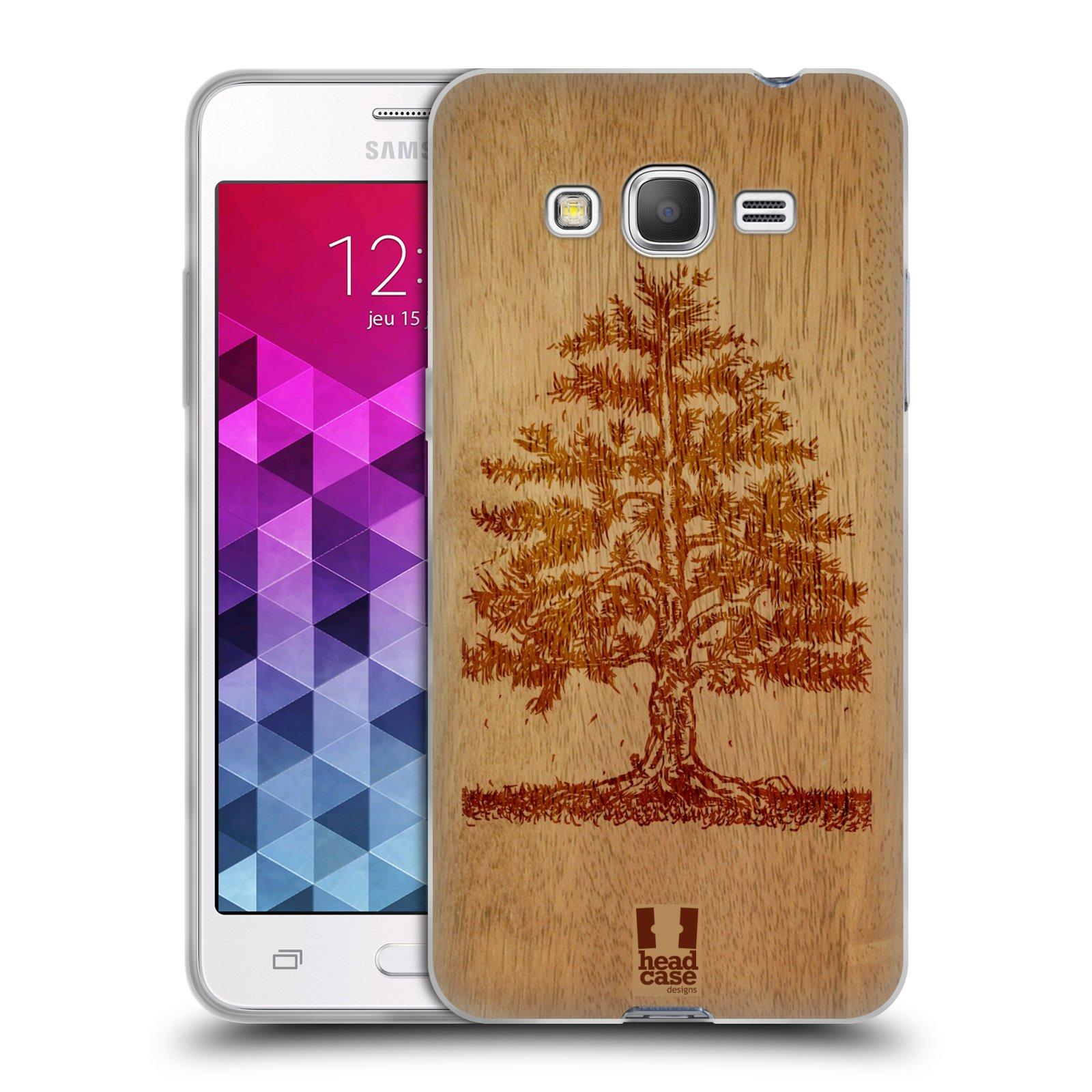 HEAD CASE silikonový obal na mobil Samsung Galaxy GRAND PRIME vzor Dřevěné umění STROM