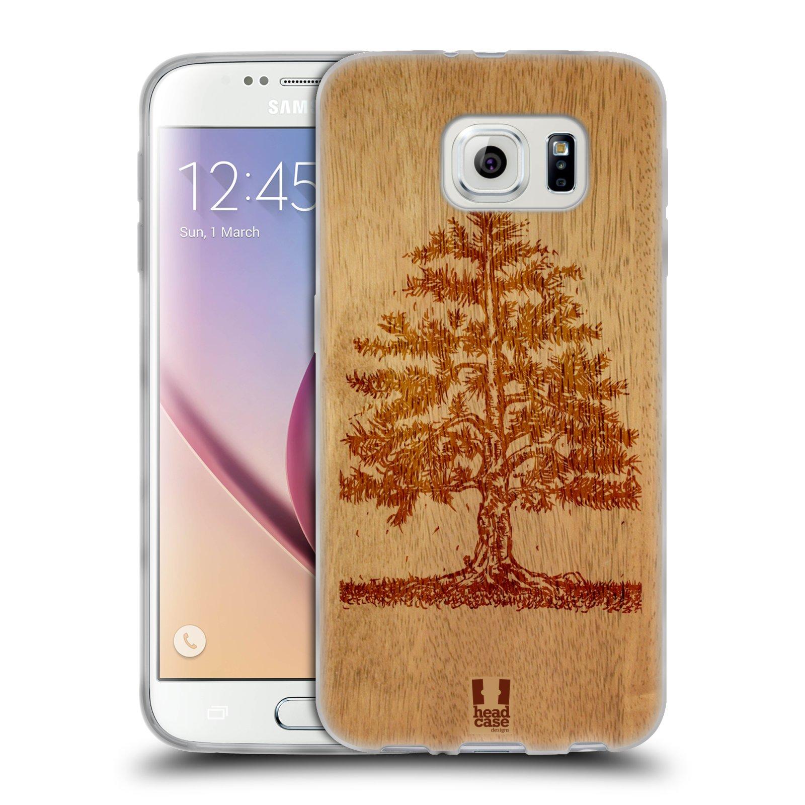 HEAD CASE silikonový obal na mobil Samsung Galaxy S6 vzor Dřevěné umění STROM