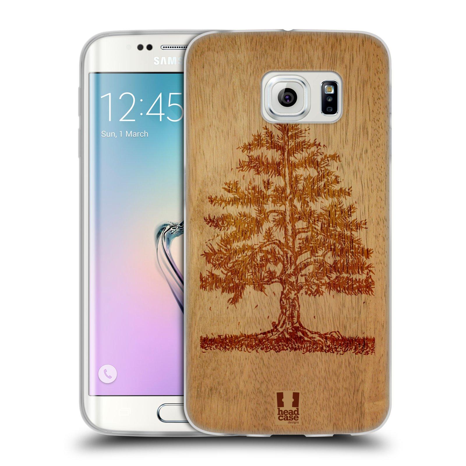 HEAD CASE silikonový obal na mobil Samsung Galaxy S6 EDGE vzor Dřevěné umění STROM