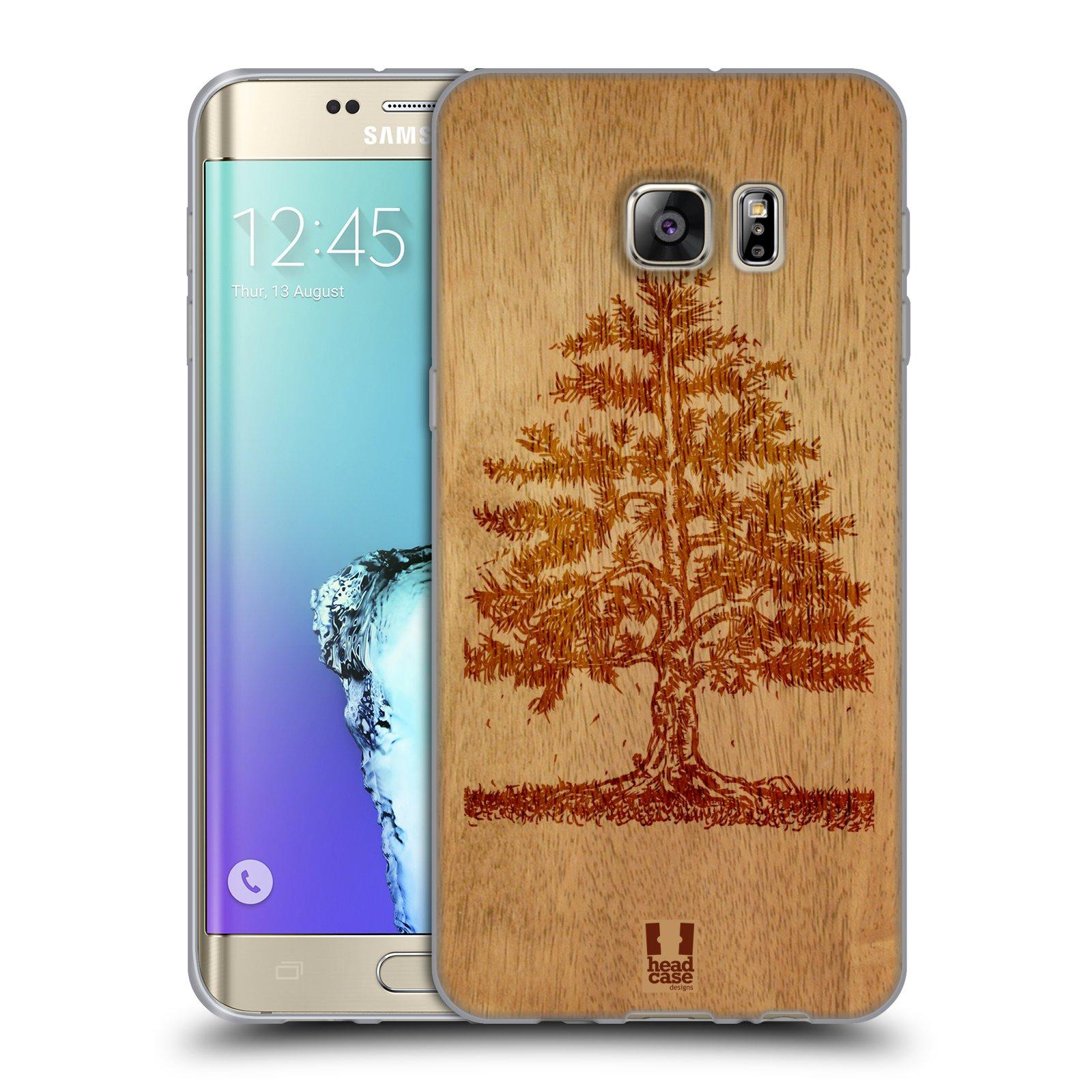 HEAD CASE silikonový obal na mobil Samsung Galaxy S6 EDGE PLUS vzor Dřevěné umění STROM
