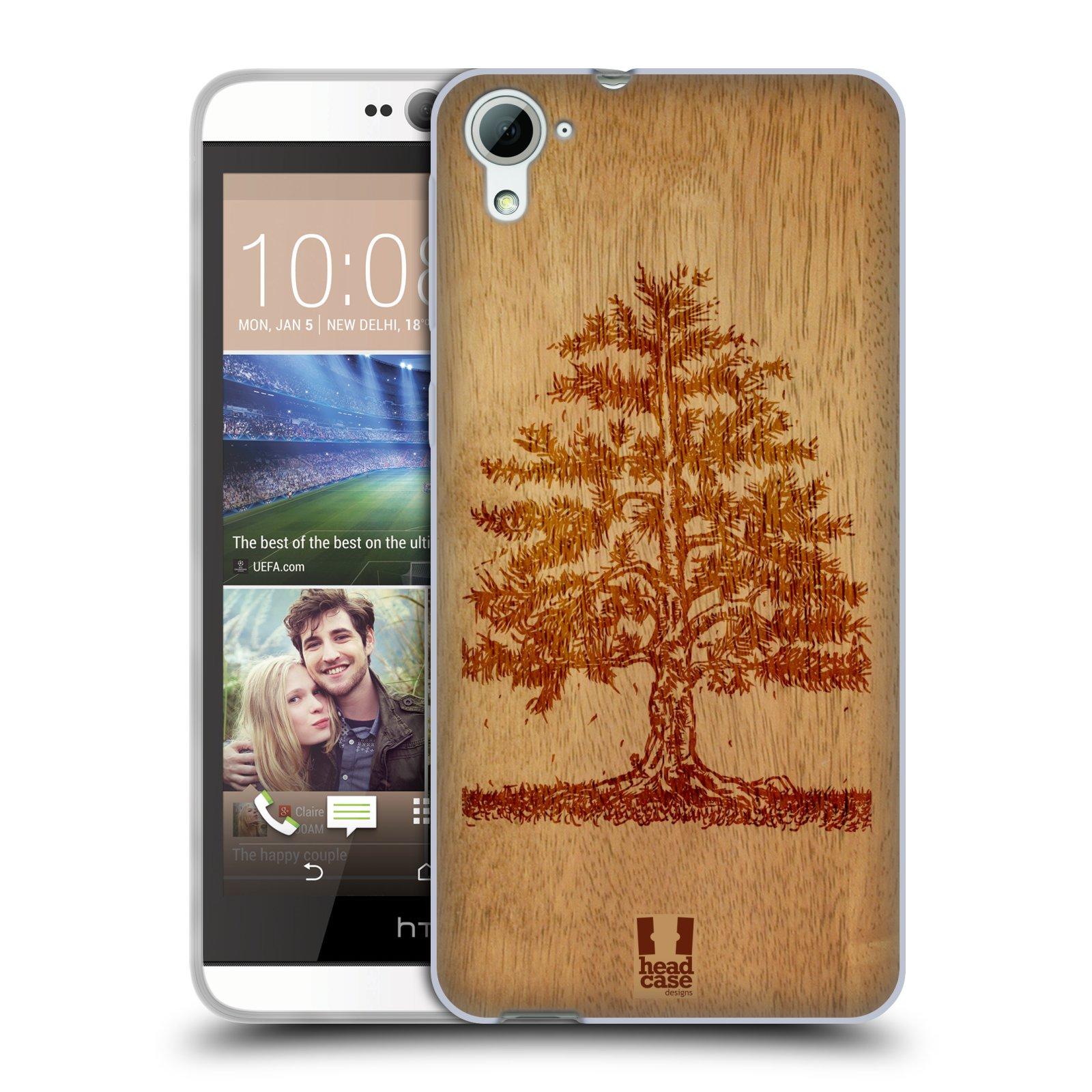HEAD CASE silikonový obal na mobil HTC DESIRE 826 vzor Dřevěné umění STROM