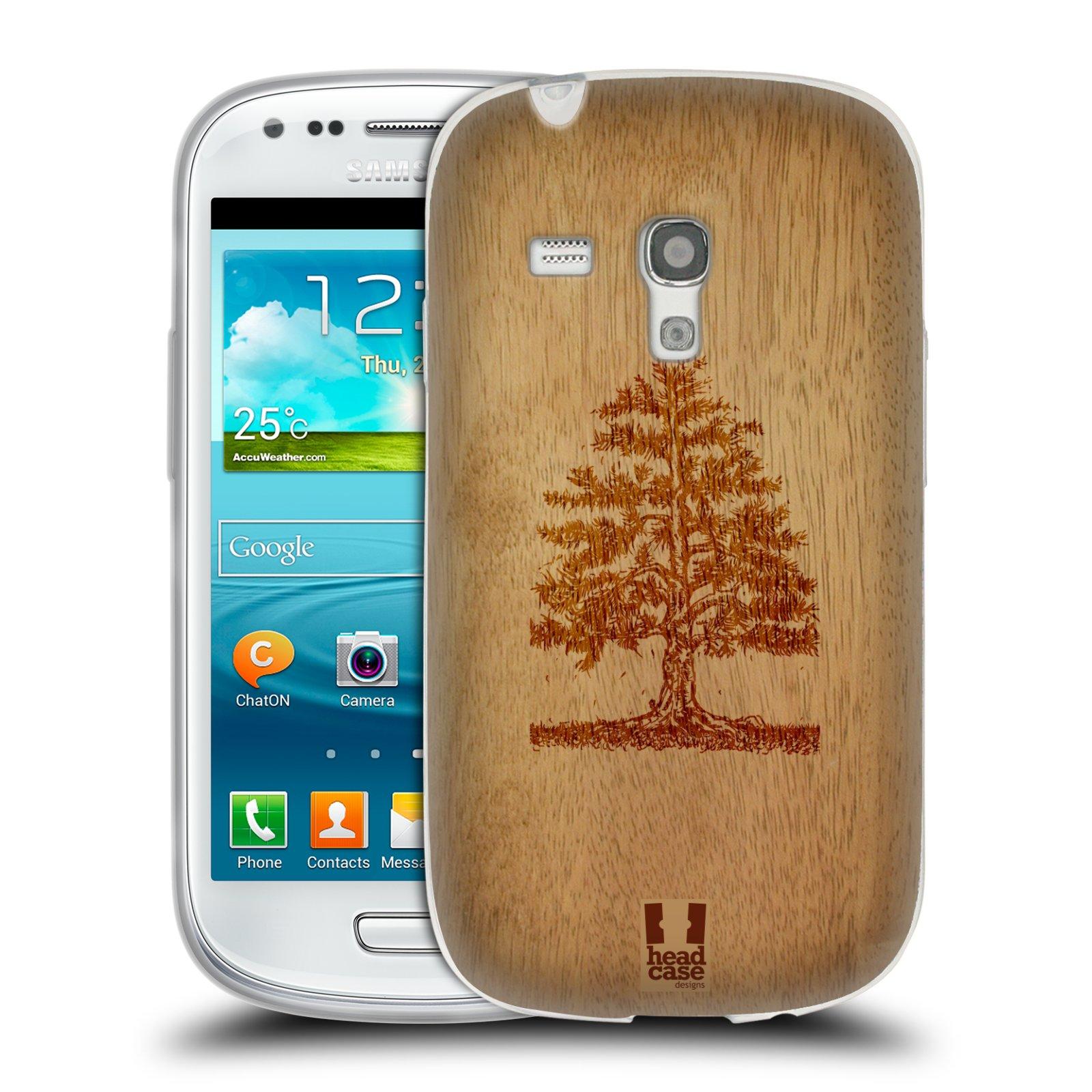 HEAD CASE silikonový obal na mobil Samsung Galaxy S3 MINI i8190 vzor Dřevěné umění STROM
