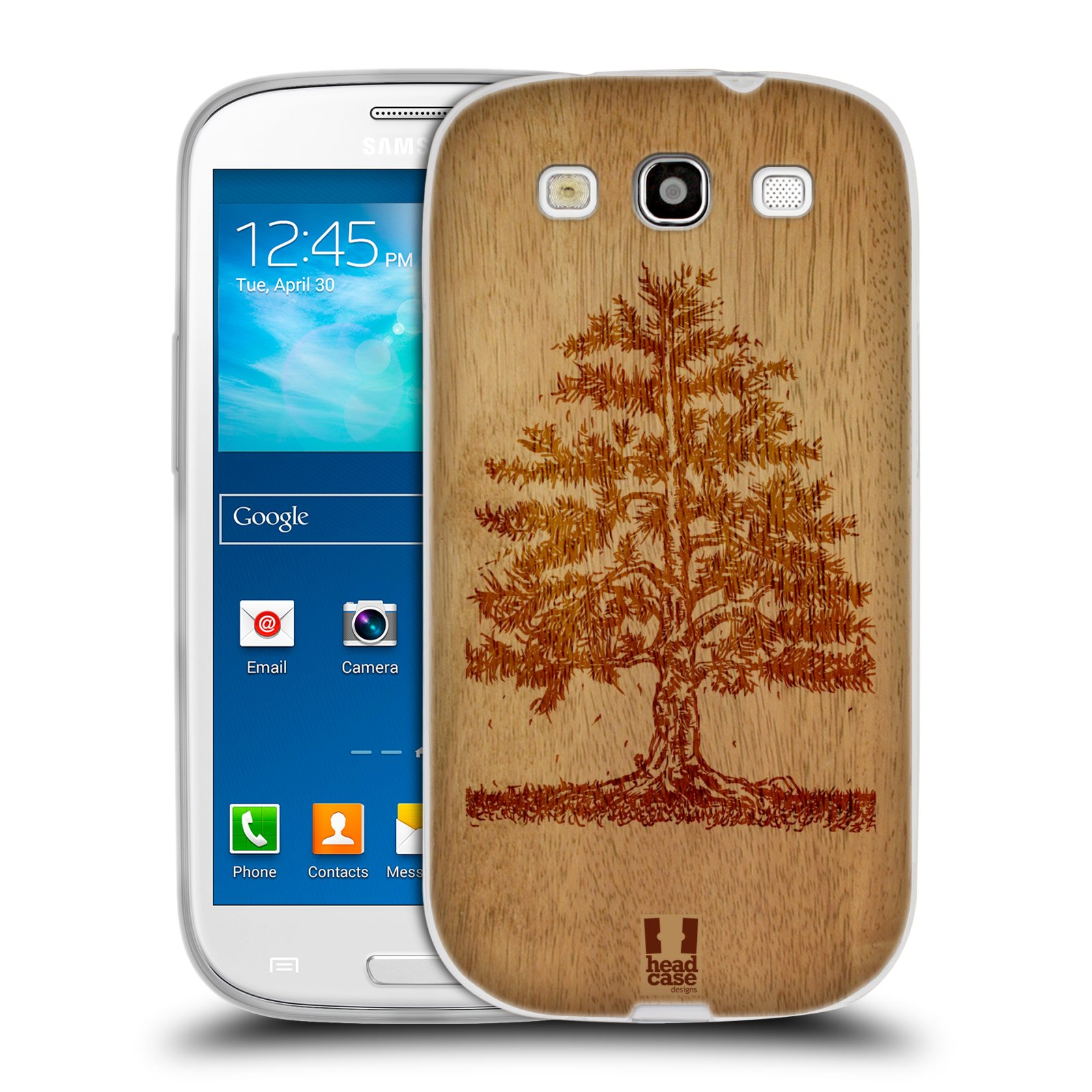 HEAD CASE silikonový obal na mobil Samsung Galaxy S3 i9300 vzor Dřevěné umění STROM