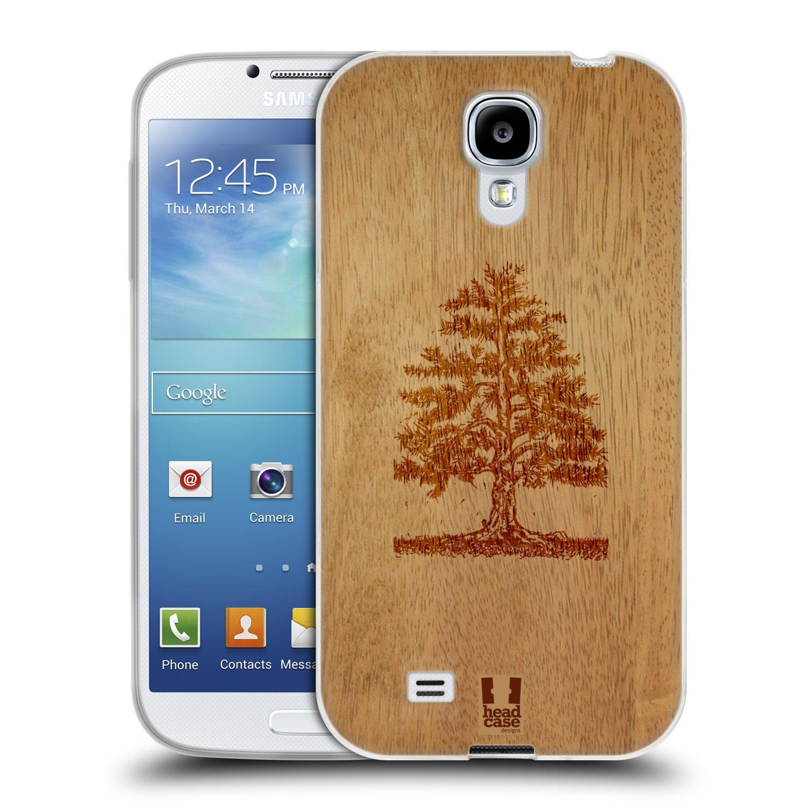 HEAD CASE silikonový obal na mobil Samsung Galaxy S4 i9500 vzor Dřevěné umění STROM