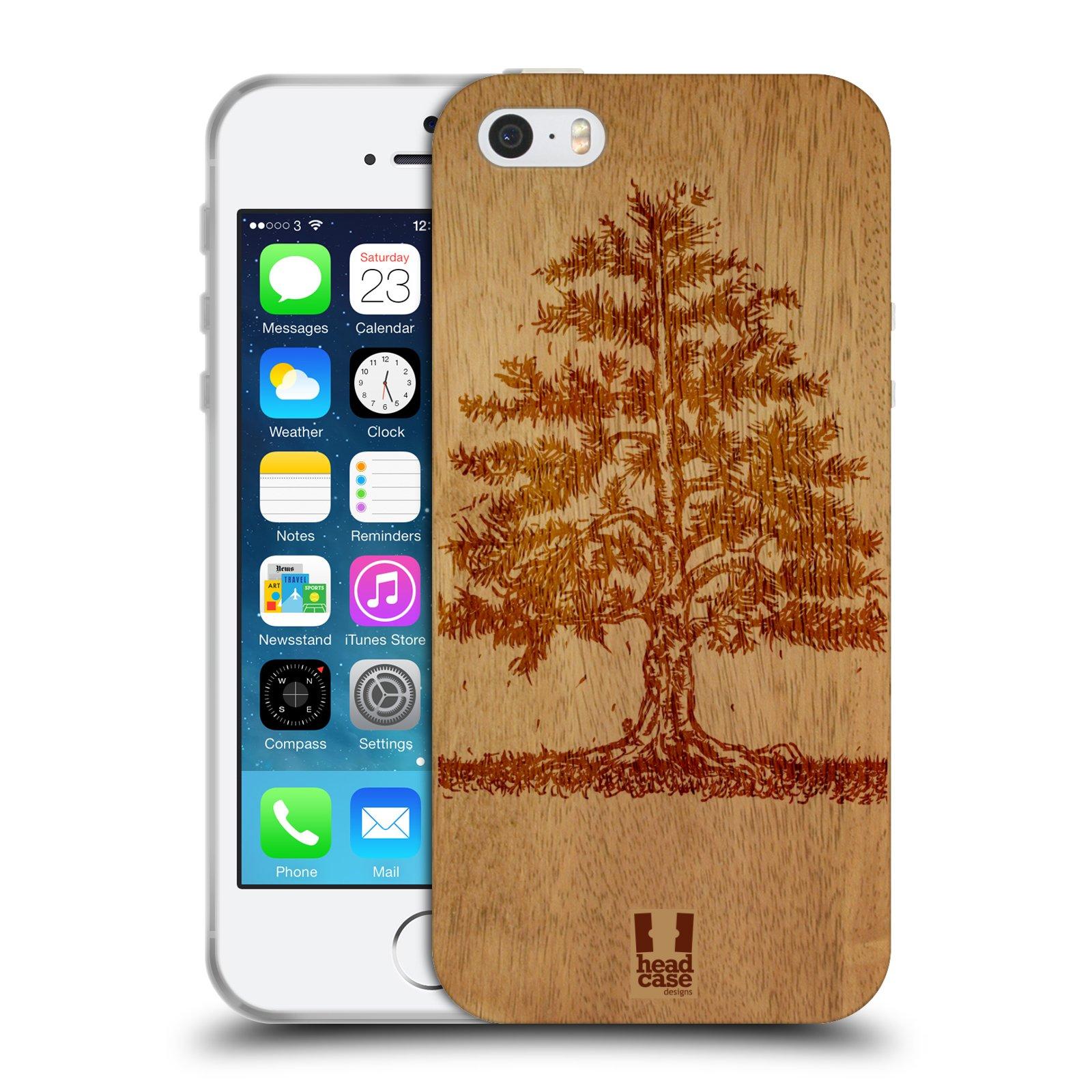 HEAD CASE silikonový obal na mobil Apple Iphone 5/5S vzor Dřevěné umění STROM