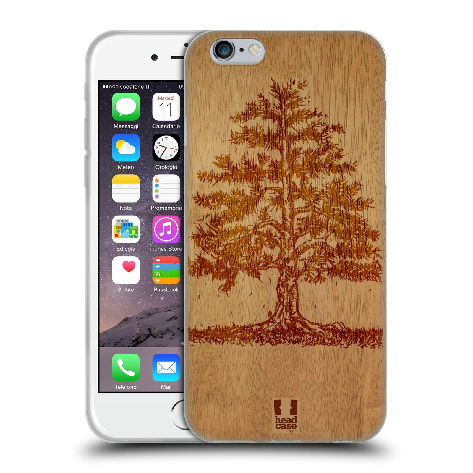 HEAD CASE silikonový obal na mobil Apple Iphone 6/6S vzor Dřevěné umění STROM