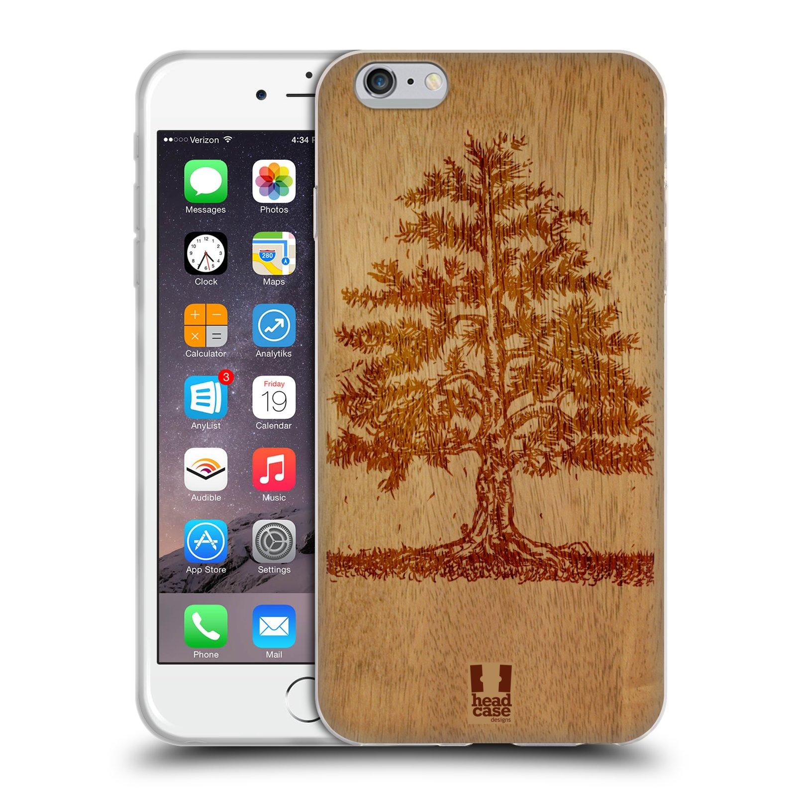 HEAD CASE silikonový obal na mobil Apple Iphone 6 PLUS/ 6S PLUS vzor Dřevěné umění STROM