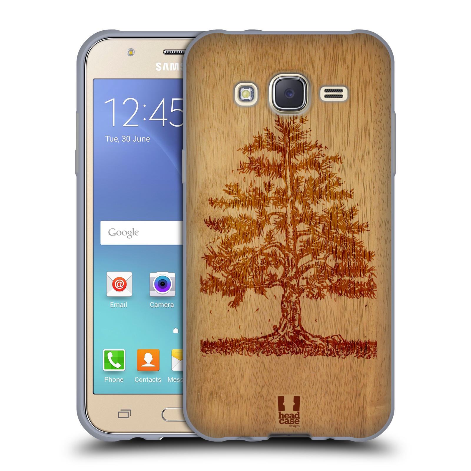 HEAD CASE silikonový obal na mobil Samsung Galaxy J5, J500, (J5 DUOS) vzor Dřevěné umění STROM