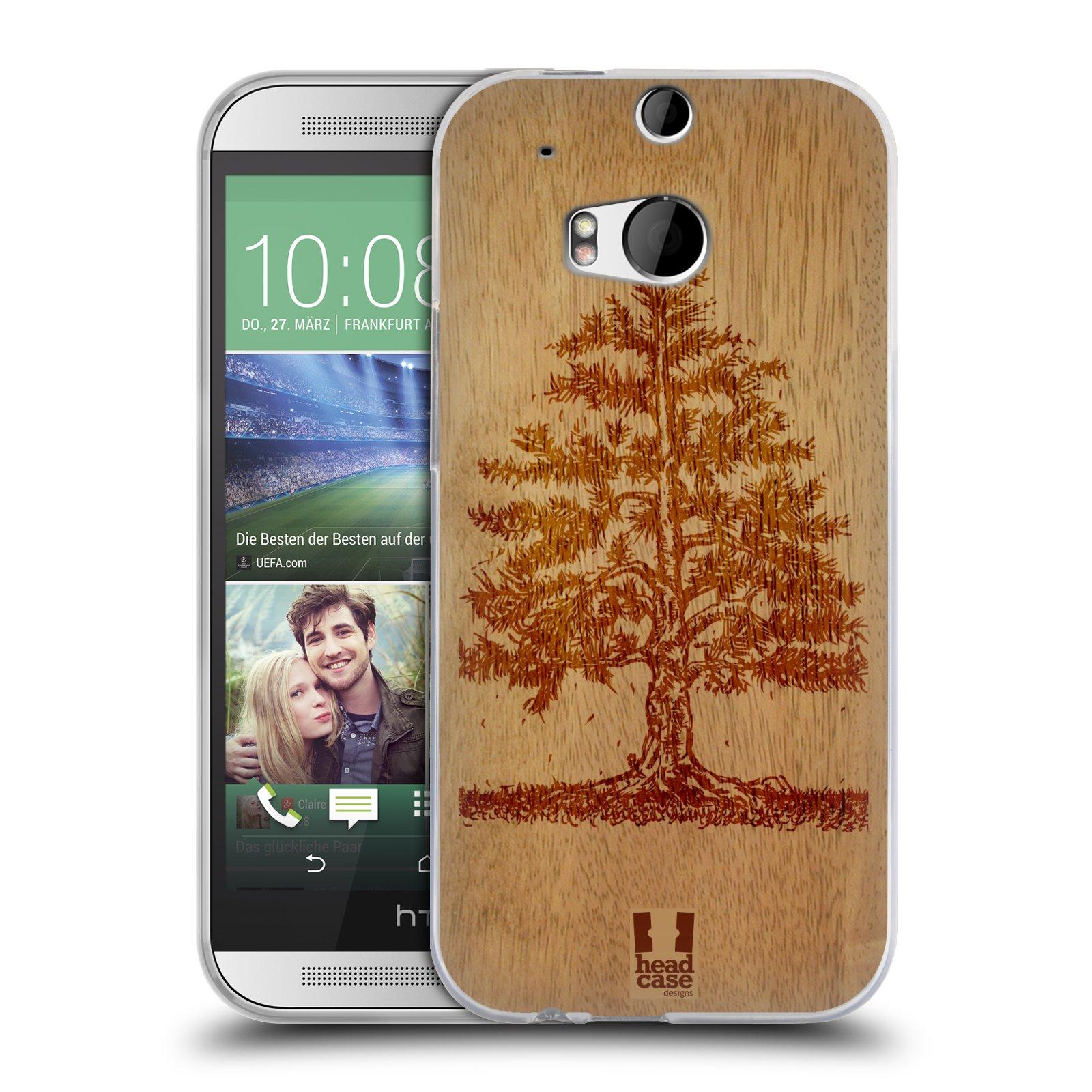 HEAD CASE silikonový obal na mobil HTC ONE (M8) vzor Dřevěné umění STROM