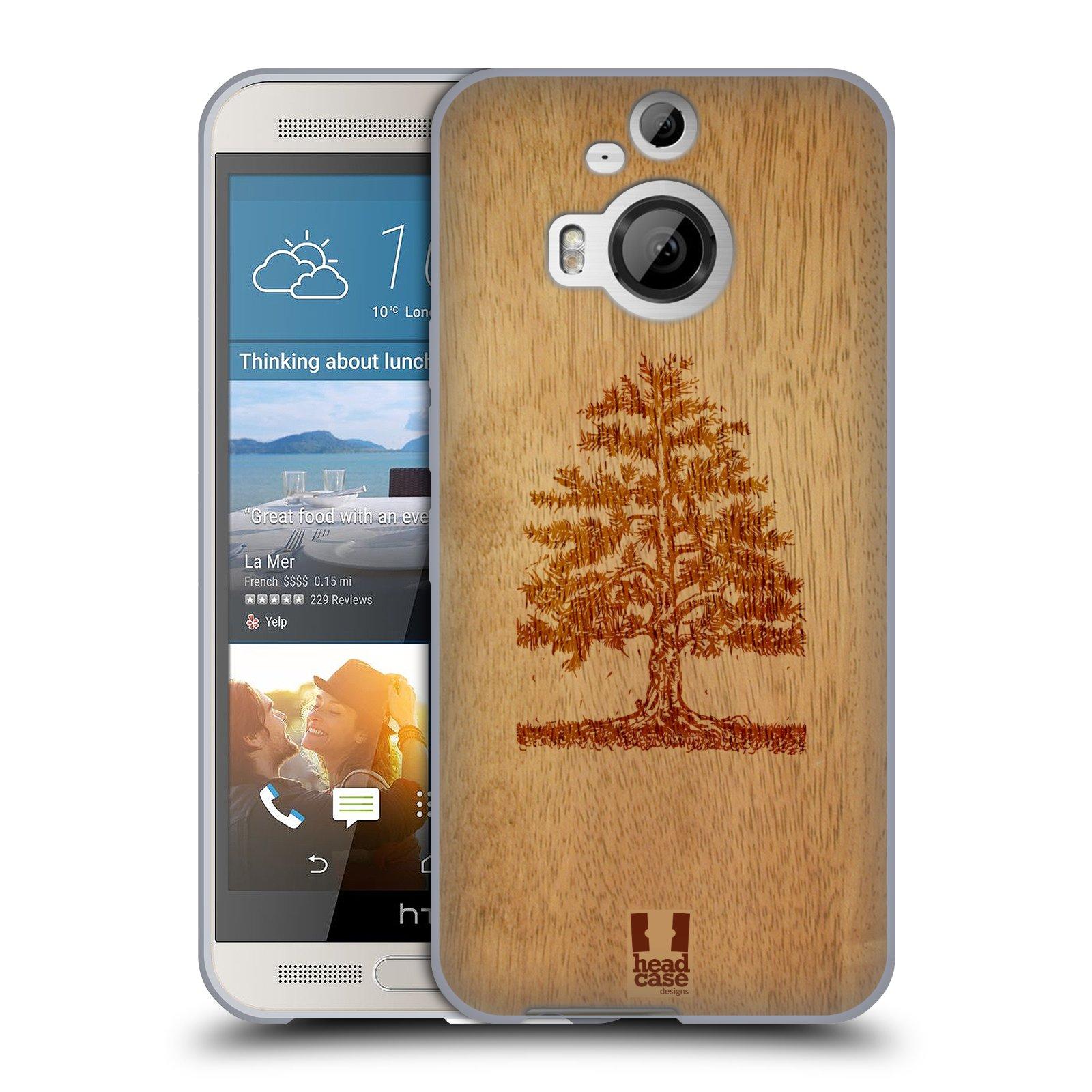 HEAD CASE silikonový obal na mobil HTC ONE M9+(PLUS) vzor Dřevěné umění STROM