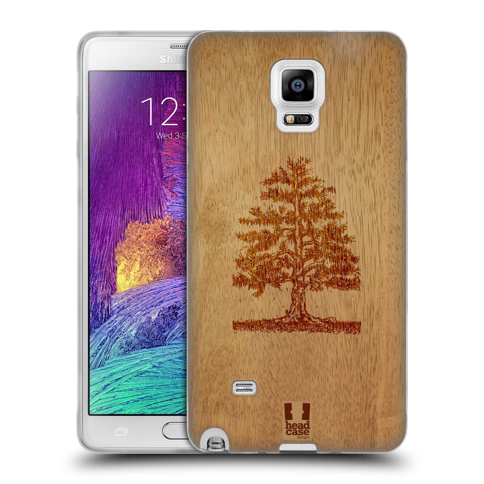 HEAD CASE silikonový obal na mobil Samsung Galaxy Note 4 (N910) vzor Dřevěné umění STROM