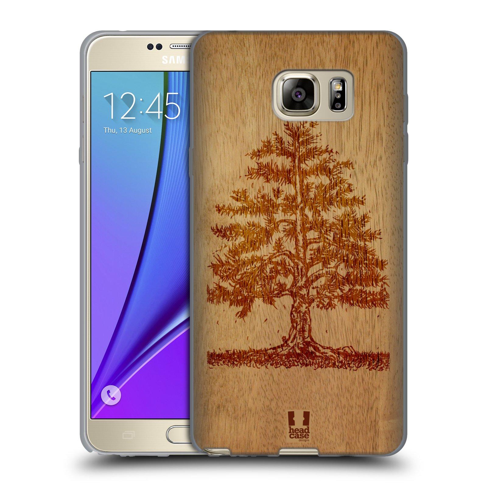 HEAD CASE silikonový obal na mobil Samsung Galaxy Note 5 (N920) vzor Dřevěné umění STROM
