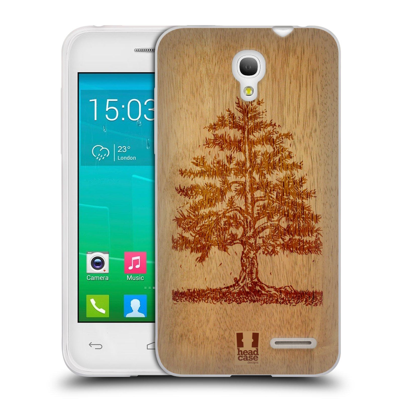 HEAD CASE silikonový obal na mobil Alcatel POP S3 OT-5050Y vzor Dřevěné umění STROM