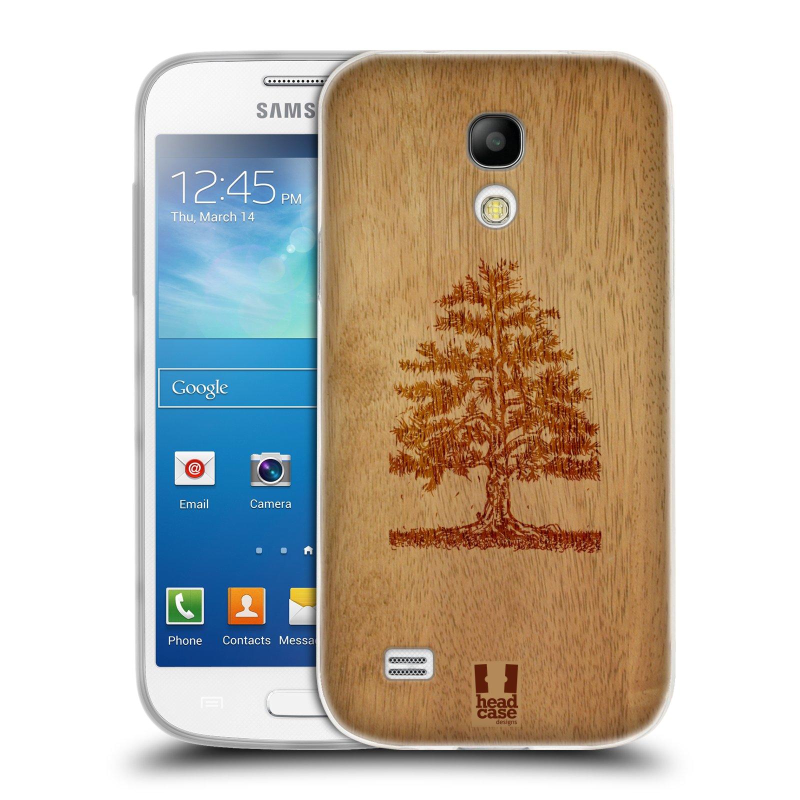 HEAD CASE silikonový obal na mobil Samsung Galaxy S4 MINI vzor Dřevěné umění STROM