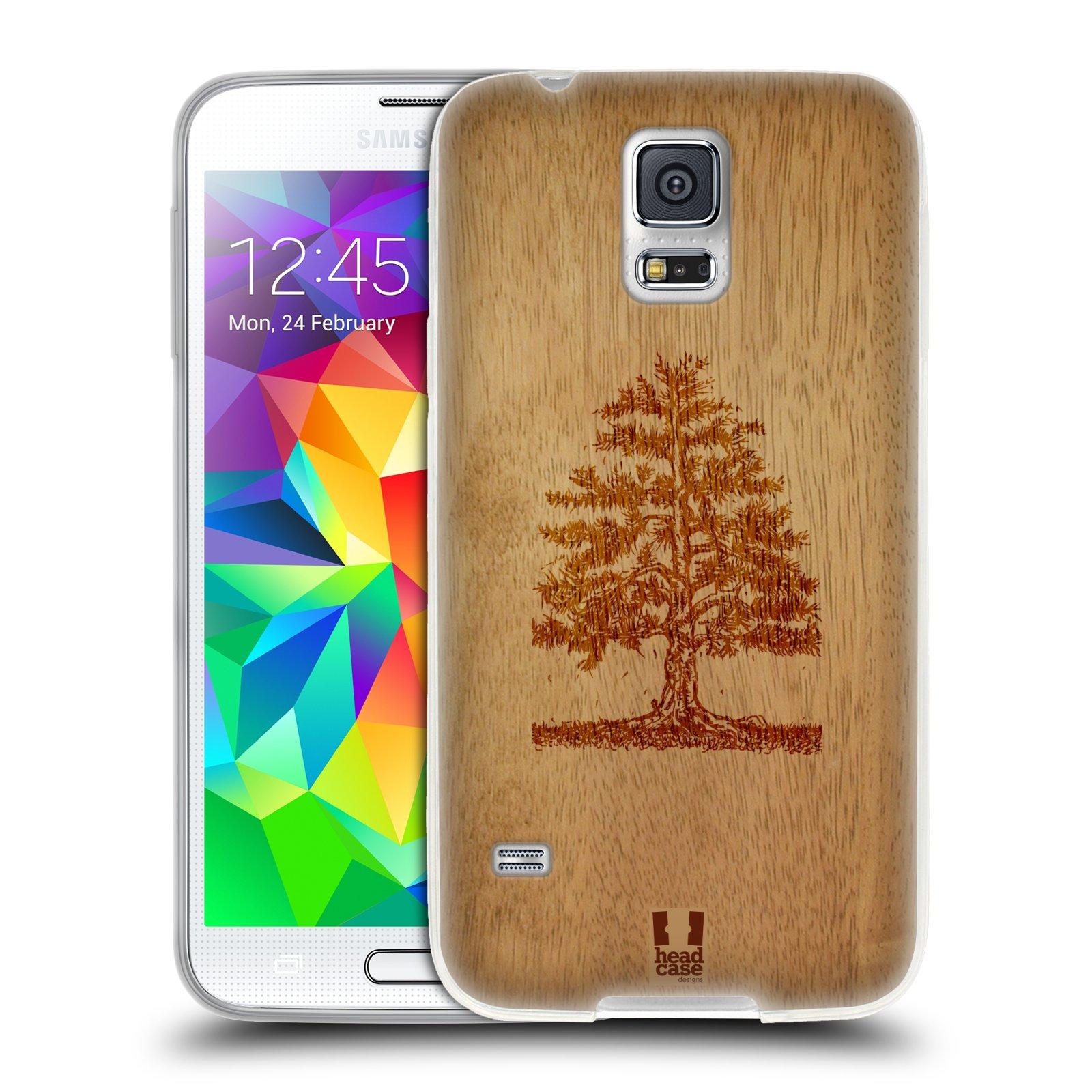HEAD CASE silikonový obal na mobil Samsung Galaxy S5/S5 NEO vzor Dřevěné umění STROM