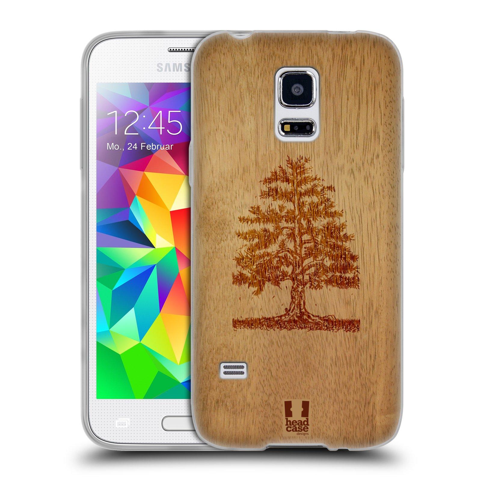 HEAD CASE silikonový obal na mobil Samsung Galaxy S5 MINI vzor Dřevěné umění STROM