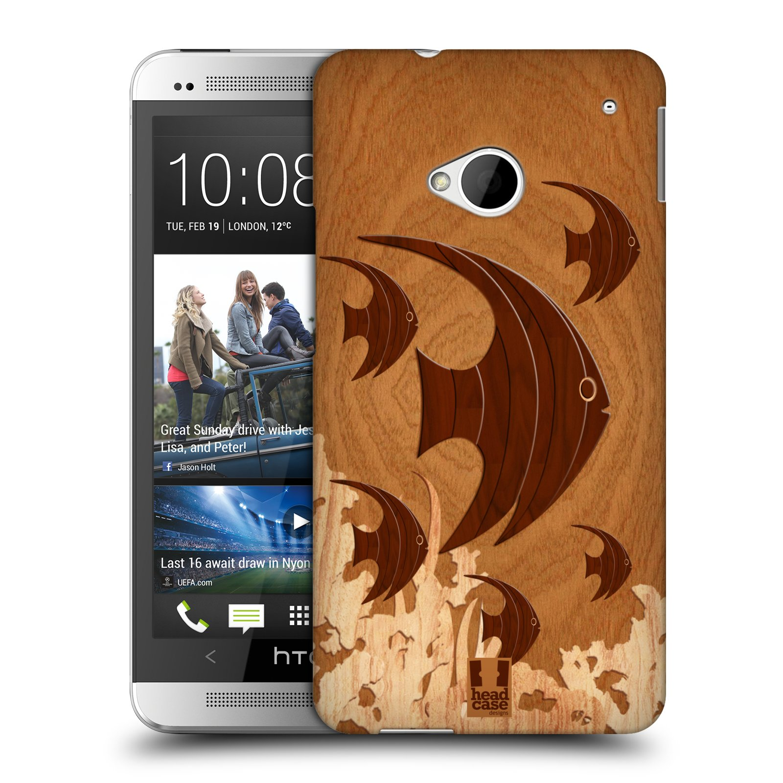 Head Case Designs Wood Craft Hard Back Case For Htc One M7