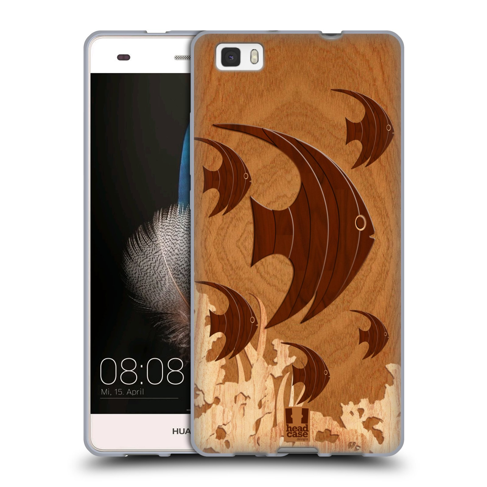 Head Case Designs Wood Craft Soft Gel Case For Huawei