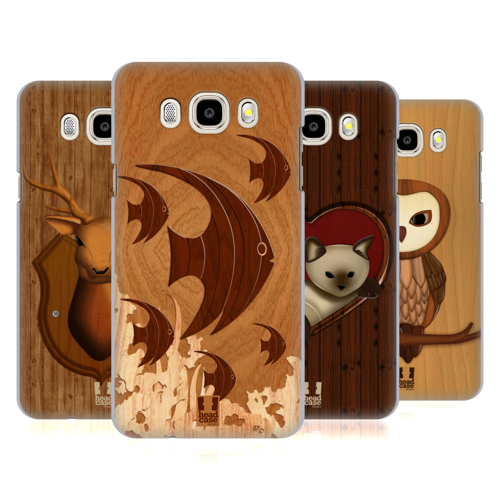 Head Case Designs Wood Craft Hard Back Case For Samsung