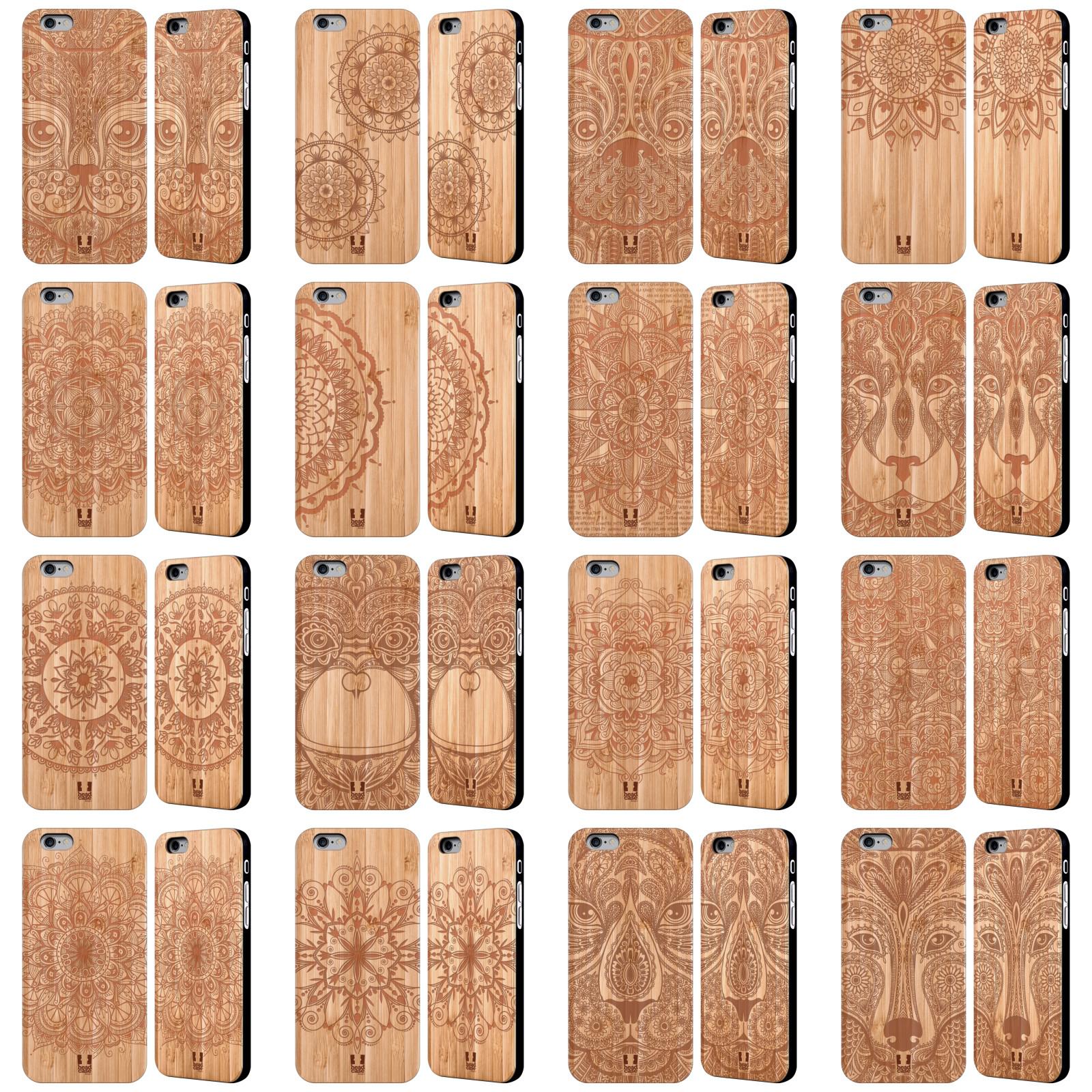 head case zeichnungen im holz h lle aus bambus holz apple iphone samsung phones ebay. Black Bedroom Furniture Sets. Home Design Ideas