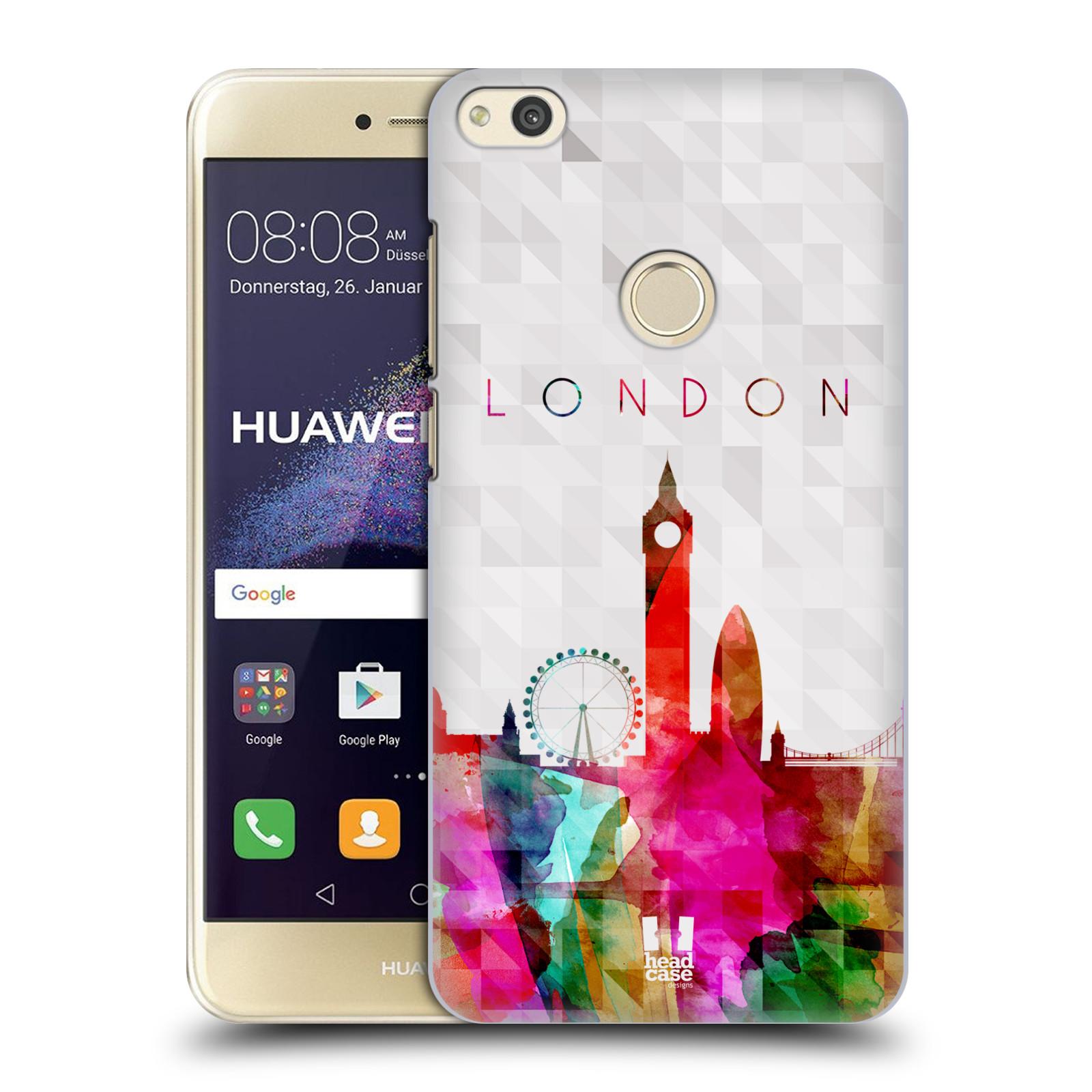 HEAD CASE silikonový obal na mobil Huawei P8 LITE 2017 vzor Vodní barva města silueta LONDÝN BIG BEN ANGLIE