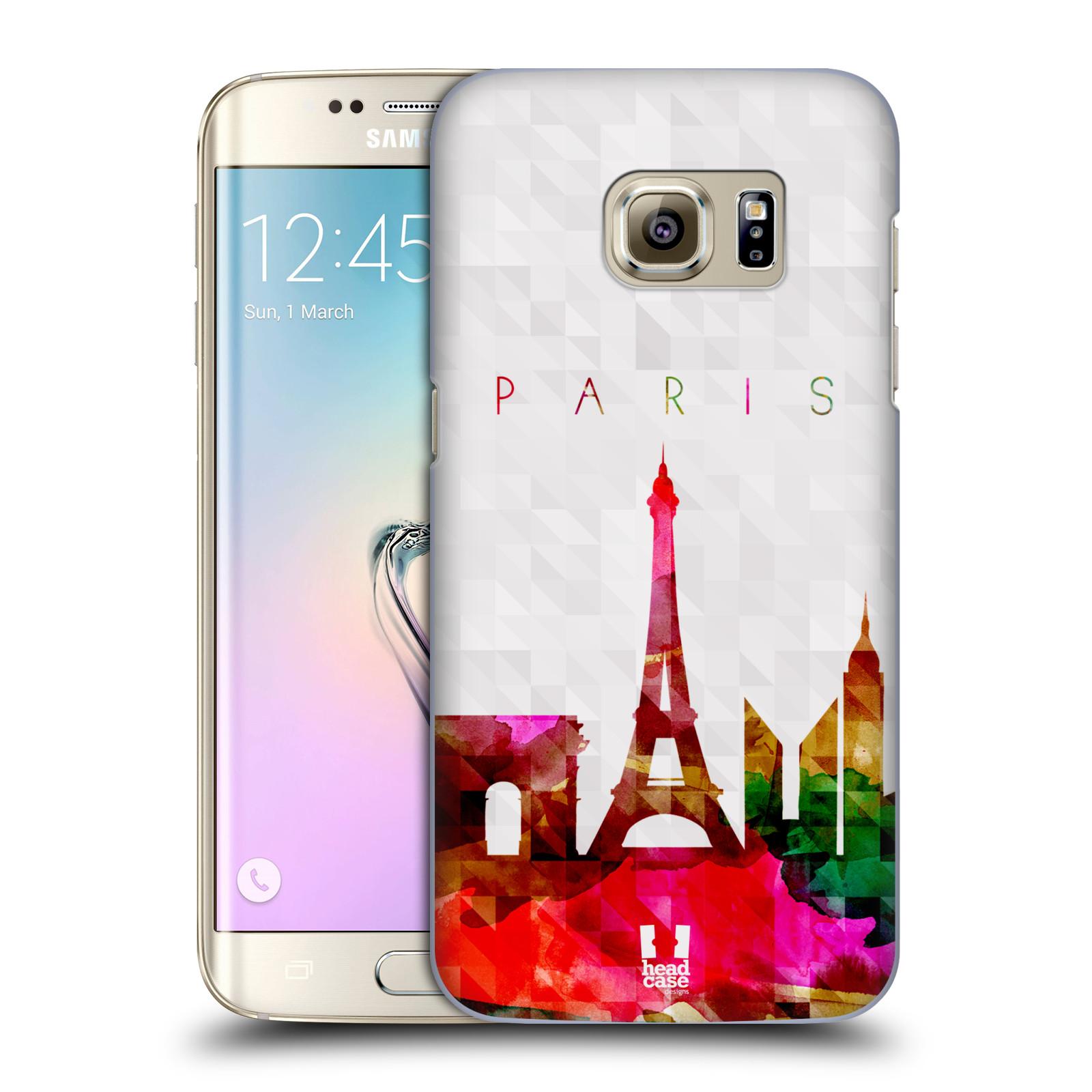 HEAD CASE plastový obal na mobil SAMSUNG GALAXY S7 EDGE vzor Vodní barva  města silueta PAŘÍŽ FRANICE EIFFELOVA VĚŽ 9ea9234f8f3