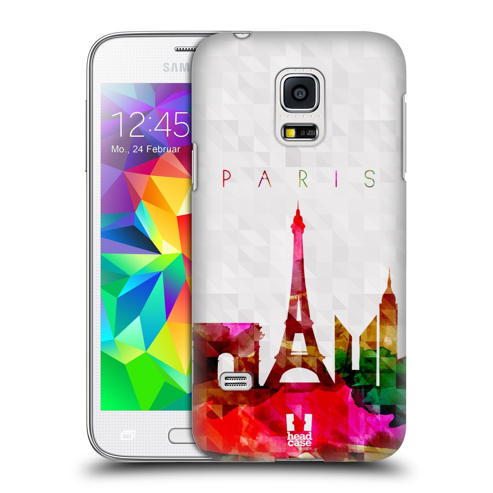HEAD CASE plastový obal na mobil SAMSUNG Galaxy S5 MINI / S5 MINI DUOS vzor Vodní barva města silueta PAŘÍŽ FRANICE EIFFELOVA VĚŽ