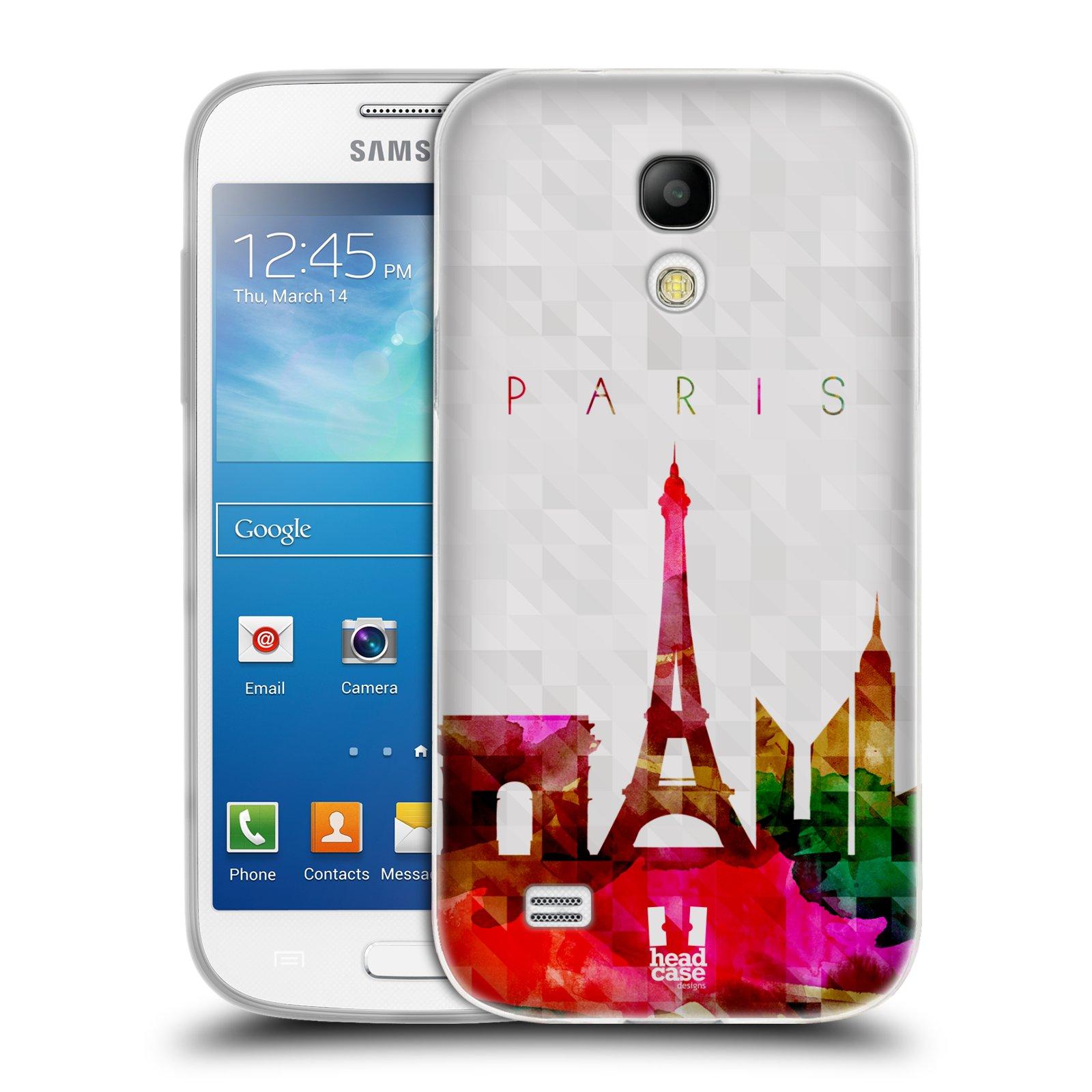 HEAD CASE silikonový obal na mobil Samsung Galaxy S4 MINI vzor Vodní barva města silueta PAŘÍŽ FRANICE EIFFELOVA VĚŽ
