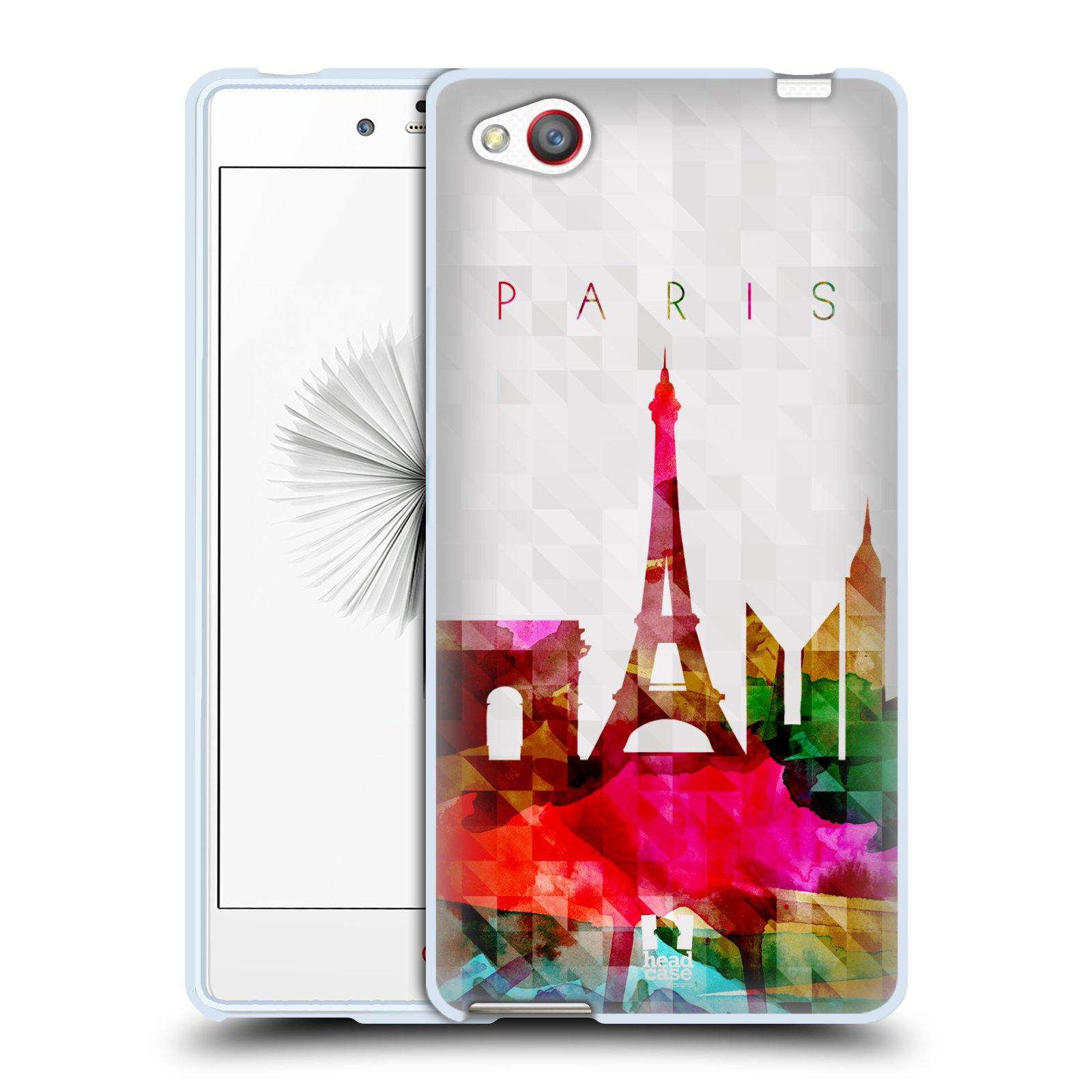HEAD CASE silikonový obal na mobil ZTE NUBIA Z9 MINI vzor Vodní barva města silueta PAŘÍŽ FRANICE EIFFELOVA VĚŽ