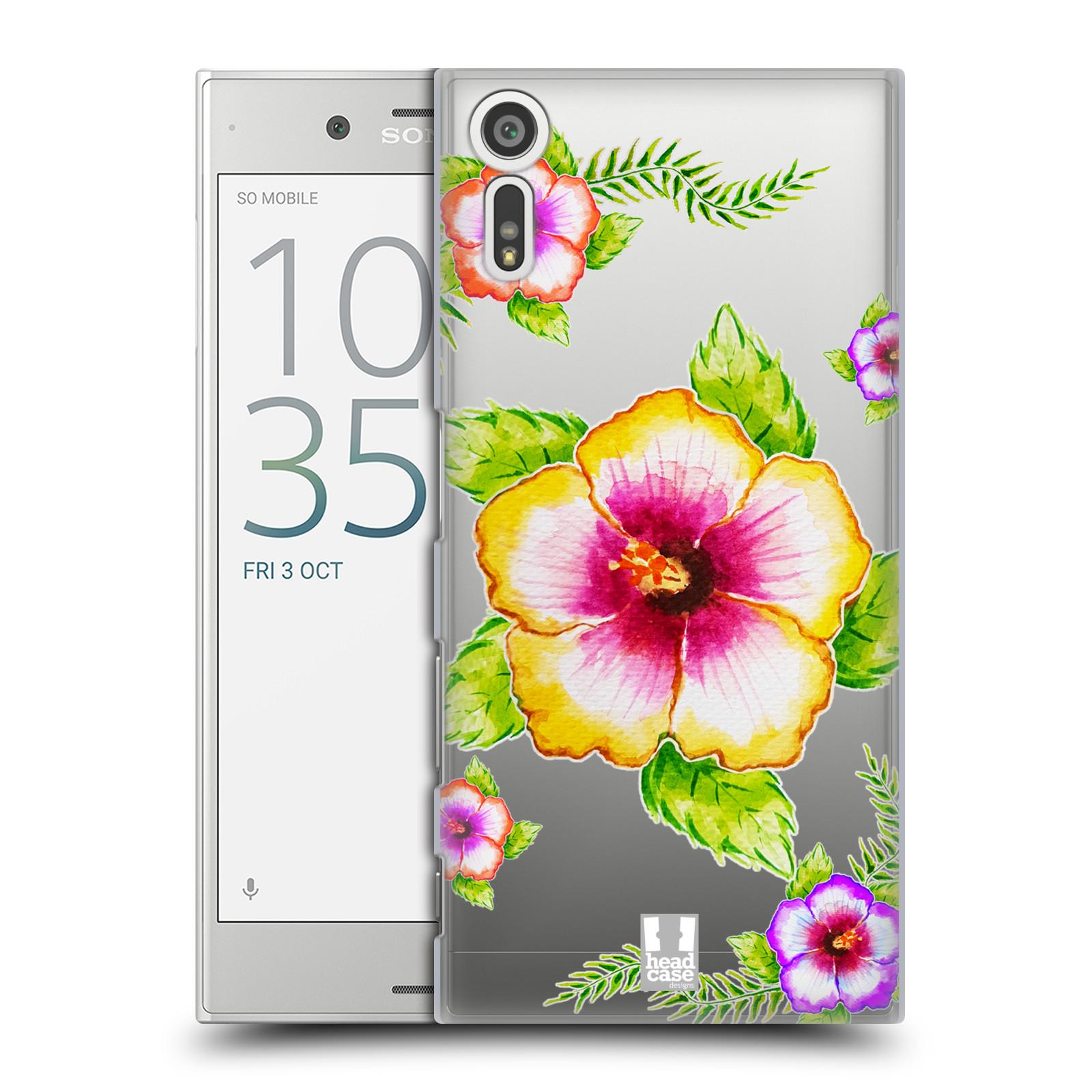 HEAD CASE plastový obal na mobil Sony Xperia XZ Květina Ibišek vodní barvy