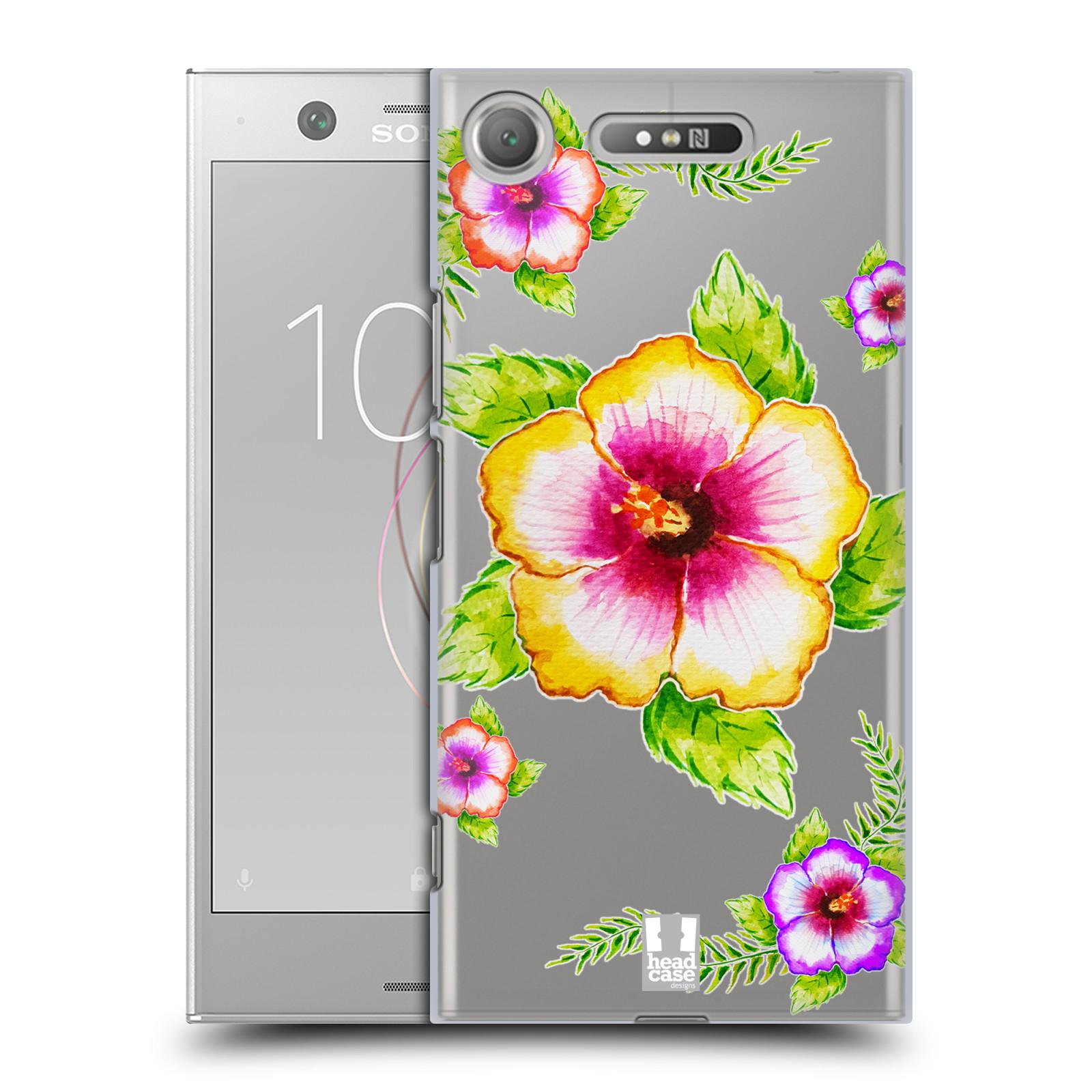 HEAD CASE plastový obal na mobil Sony Xperia XZ1 Květina Ibišek vodní barvy