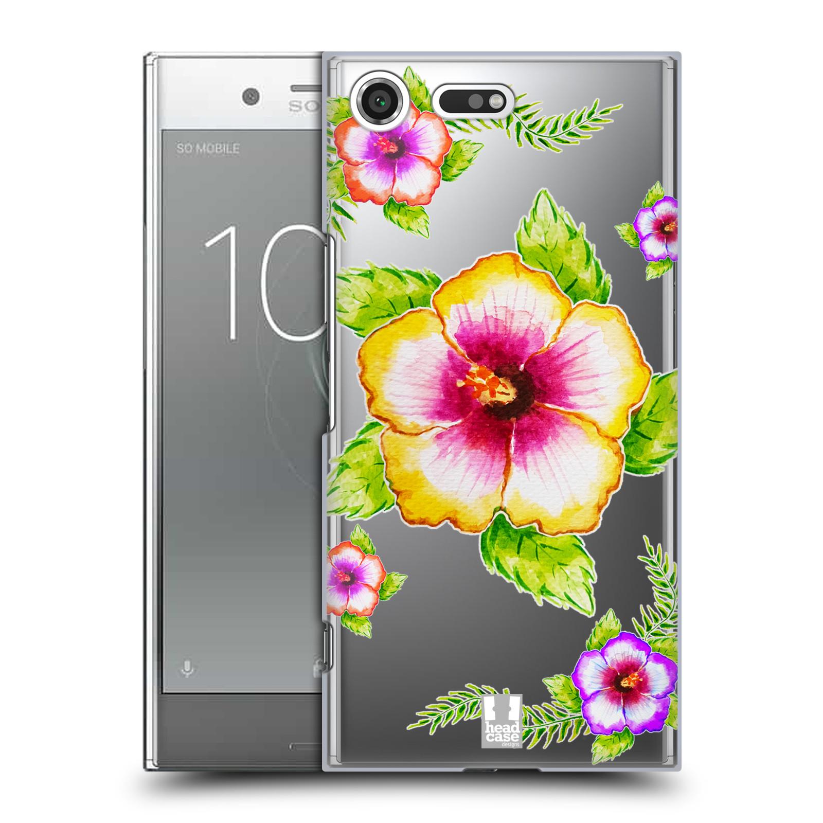 HEAD CASE plastový obal na mobil Sony Xperia XZ PREMIUM Květina Ibišek vodní barvy