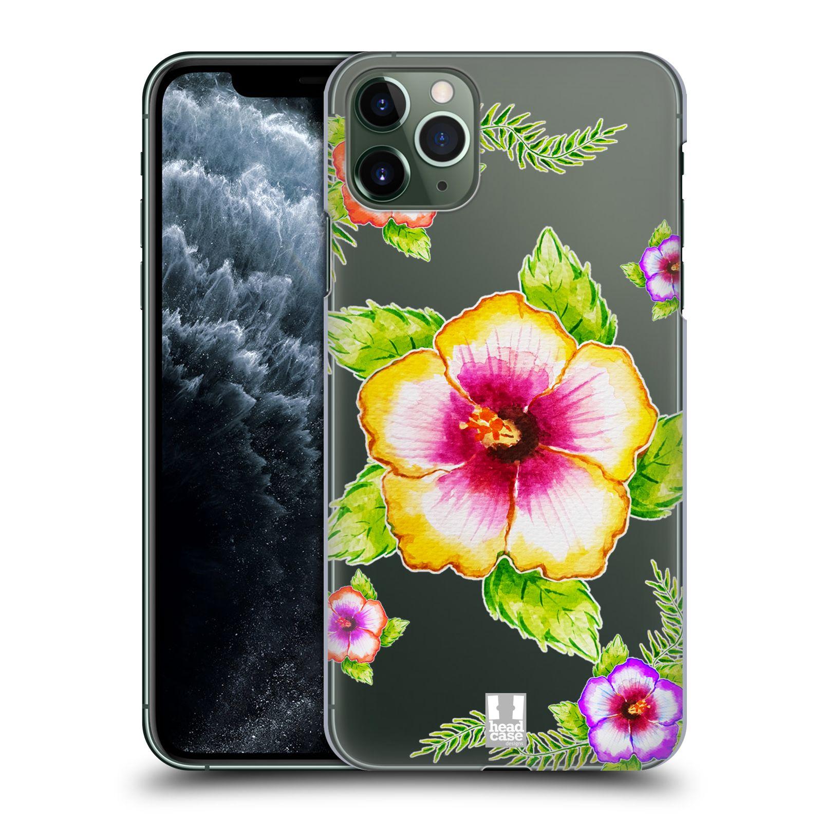 Pouzdro na mobil Apple Iphone 11 PRO MAX - HEAD CASE - Květina Ibišek vodní barvy