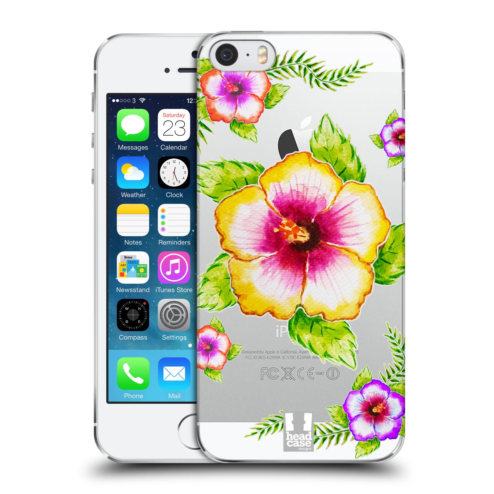 Plastové pouzdro pro mobil Apple Iphone 5 / 5S / SE Květina Ibišek vodní barvy