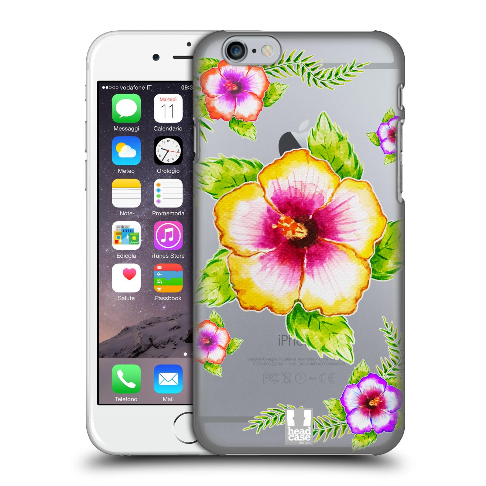 Plastové pouzdro pro mobil Apple Iphone 6/6S Květina Ibišek vodní barvy