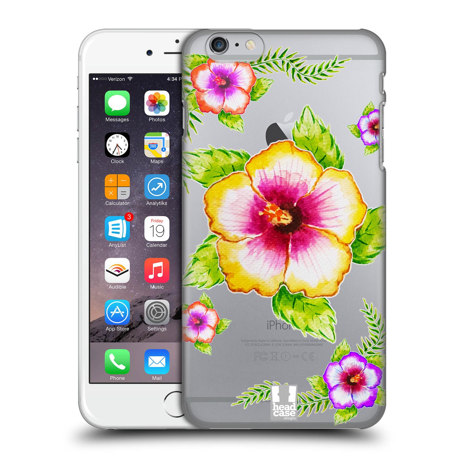 Plastové pouzdro pro mobil Apple Iphone 6 PLUS / 6S PLUS Květina Ibišek vodní barvy