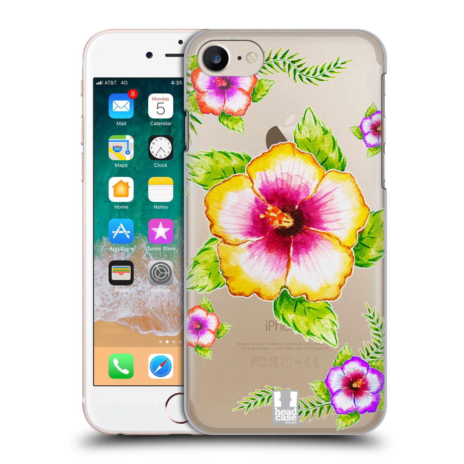 Plastové pouzdro pro mobil Apple Iphone 7 8 Květina Ibišek vodní barvy b0a99d6549a