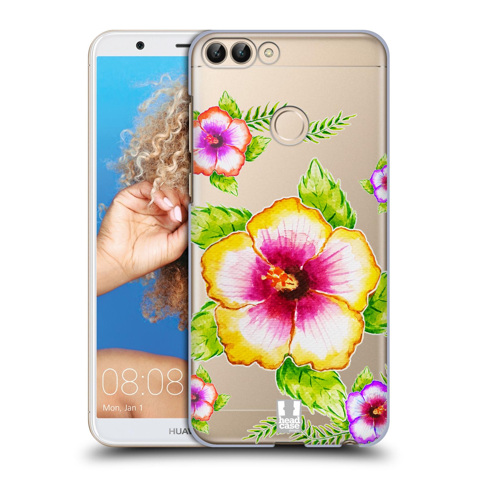 HEAD CASE plastový obal na mobil Huawei P Smart Květina Ibišek vodní barvy