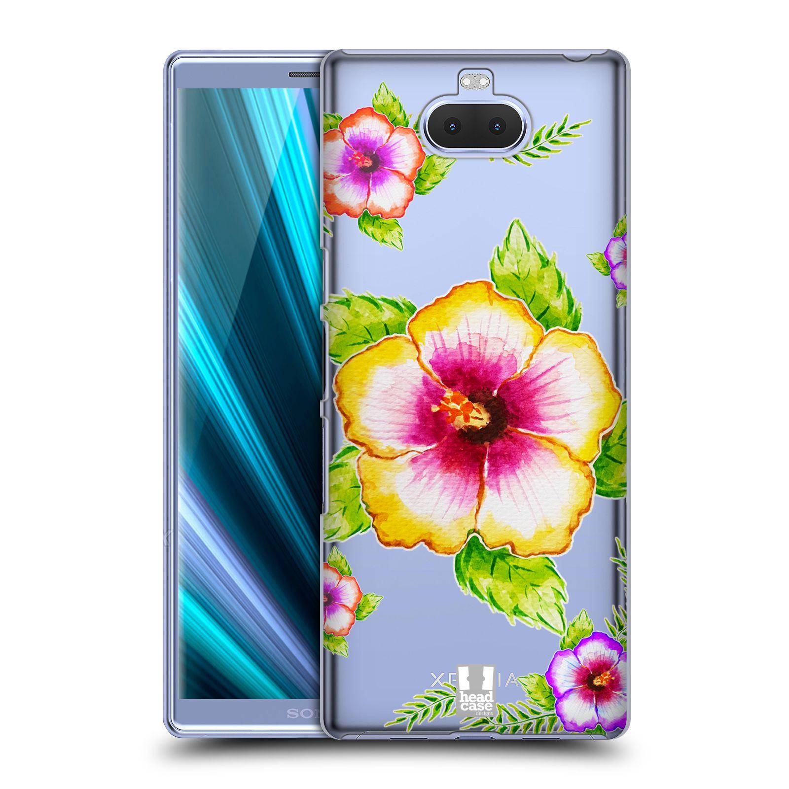 Pouzdro na mobil Sony Xperia 10 - Head Case - Květina Ibišek vodní barvy