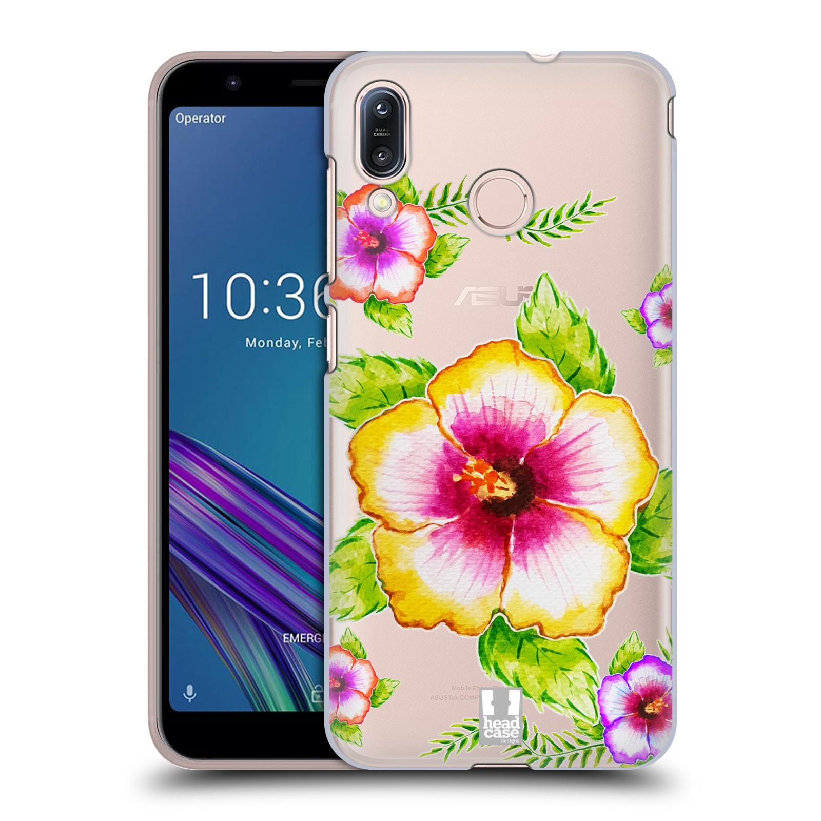 Pouzdro na mobil Asus Zenfone Max M1 (ZB555KL) - HEAD CASE - Květina Ibišek vodní barvy