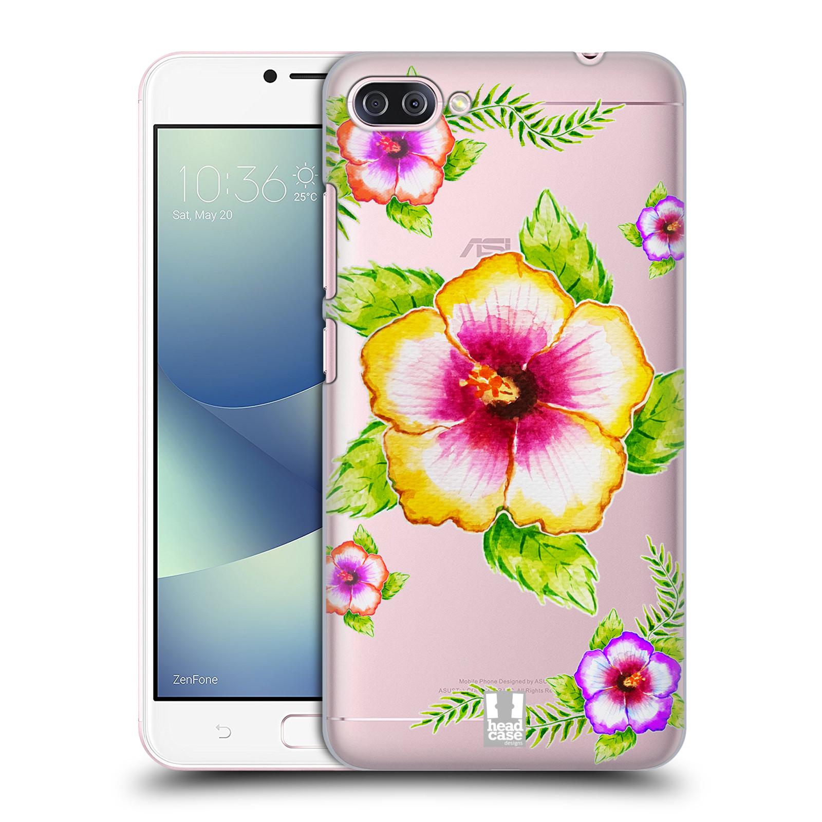 HEAD CASE plastový obal na mobil Asus Zenfone 4 MAX ZC554KL Květina Ibišek vodní barvy