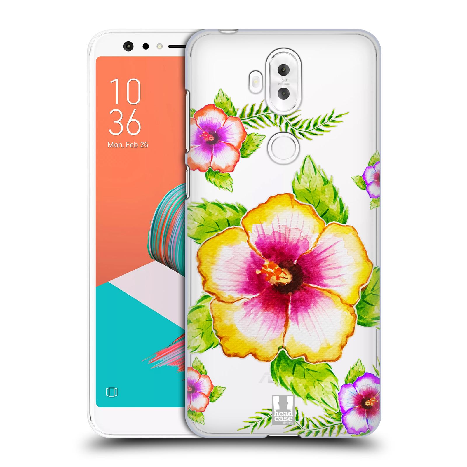 HEAD CASE plastový obal na mobil Asus Zenfone 5 LITE ZC600KL Květina Ibišek vodní barvy