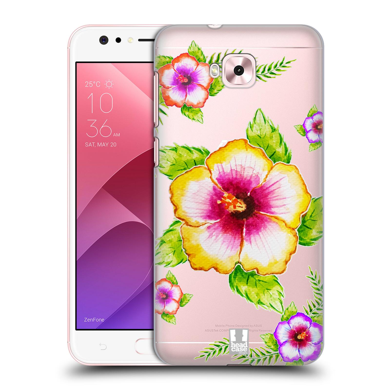 HEAD CASE plastový obal na mobil Asus Zenfone 4 Selfie ZD553KL Květina Ibišek vodní barvy