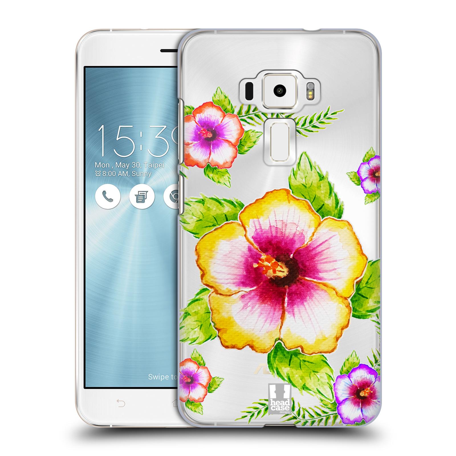 HEAD CASE plastový obal na mobil Asus Zenfone 3 ZE552KL Květina Ibišek vodní barvy