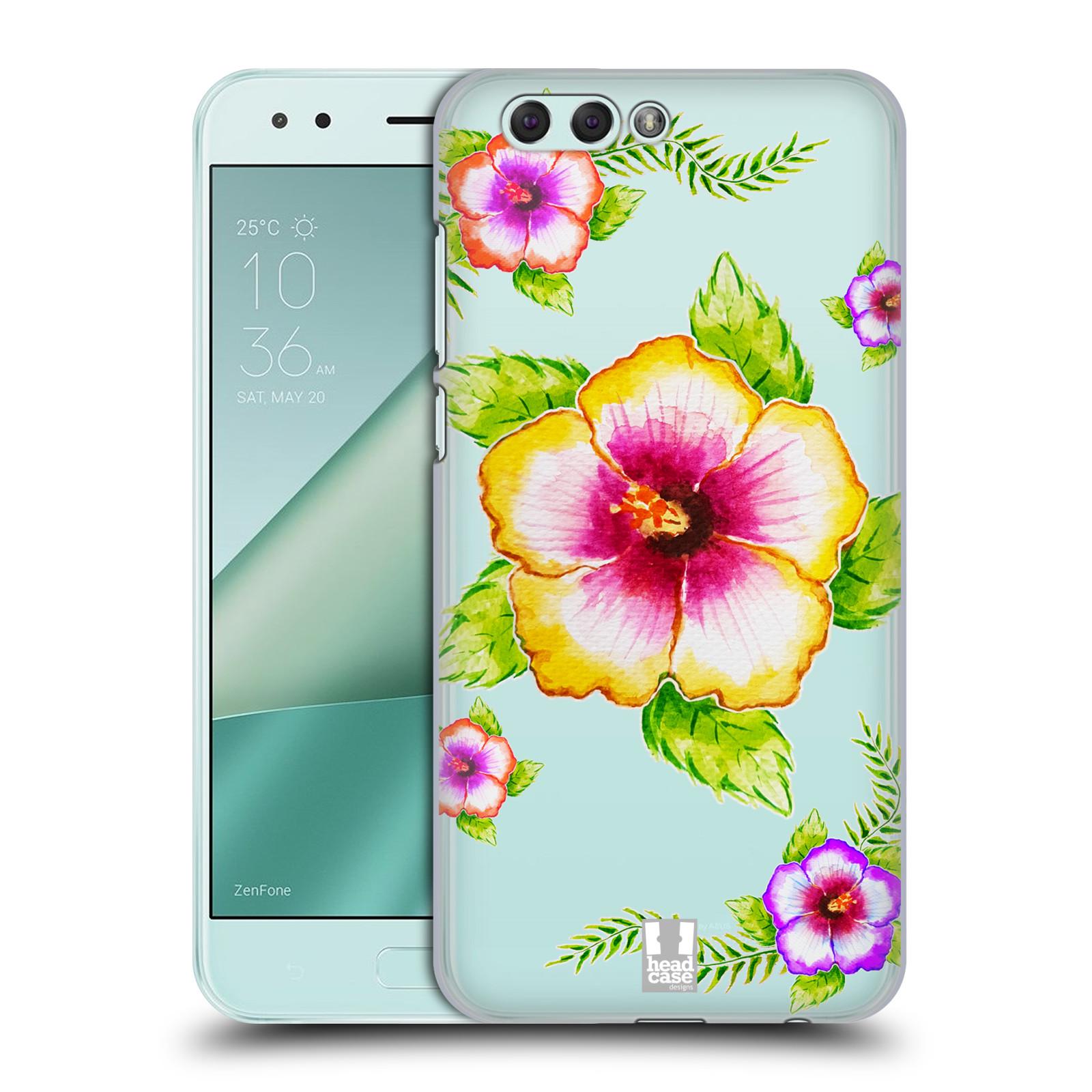 HEAD CASE plastový obal na mobil Asus Zenfone 4 ZE554KL Květina Ibišek vodní barvy