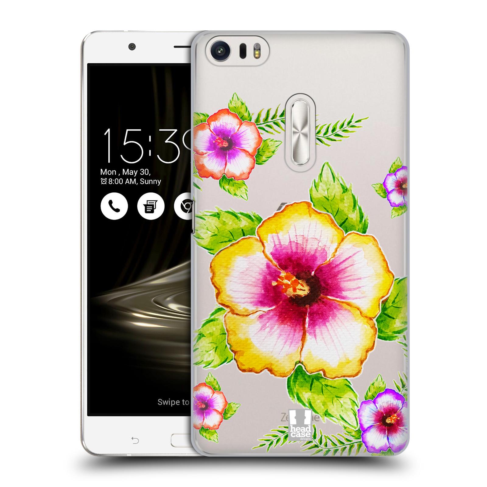 HEAD CASE plastový obal na mobil Asus Zenfone 3 Ultra ZU680KL Květina Ibišek vodní barvy