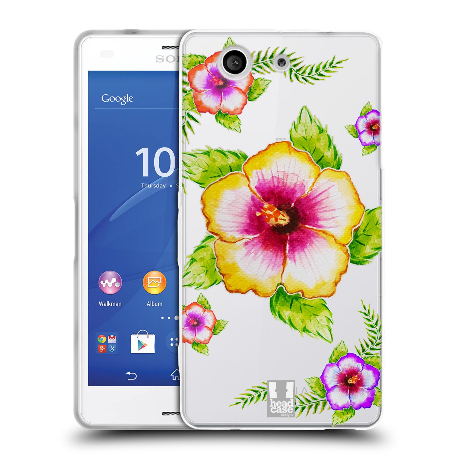 HEAD CASE silikonový obal na mobil Sony Xperia Z3 COMPACT Květina Ibišek vodní barvy