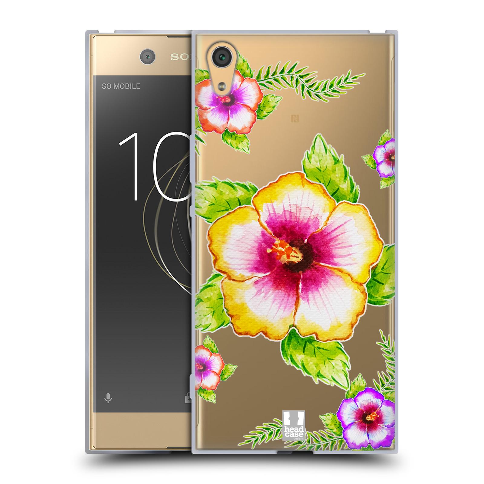 HEAD CASE silikonový obal na mobil Sony Xperia XA1 ULTRA Květina Ibišek vodní barvy