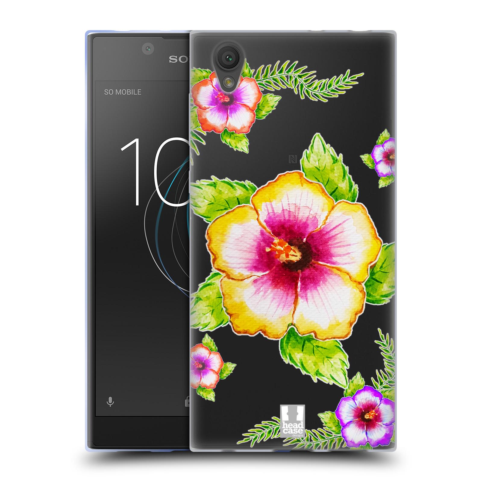 HEAD CASE silikonový obal na mobil Sony Xperia L1 Květina Ibišek vodní barvy