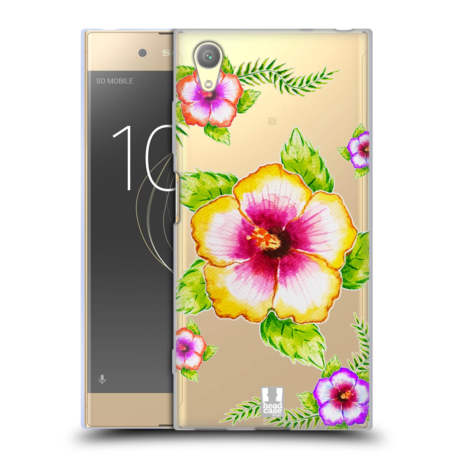 HEAD CASE silikonový obal na mobil Sony Xperia XA1 PLUS Květina Ibišek vodní barvy